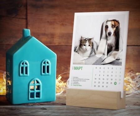 Календар със снимки кубче М