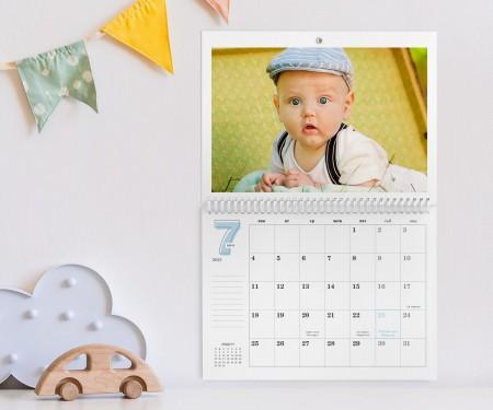 Персонализиран календар със спирала - Blue